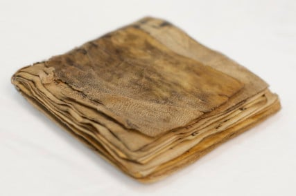 This Jewish prayer book is suspected to be the oldest ever found, and will be on display at the Museum of the Bible. Photo courtesy of Museum of the Bible
