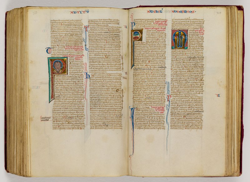 Latin Vulgate Pocket Bible, Venice or Padua (Italy), ca. 1240–1250, Illuminated manuscript on parchment - this item will be on display at the Museum of the Bible. Photo courtesy of Museum of the Bible