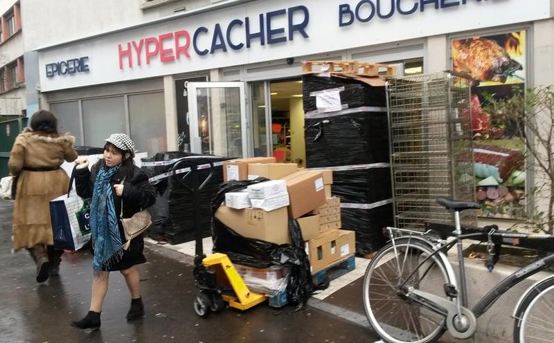 A kosher supermarket in the 19th arrondissement in Paris. Religion News Service photo by Elizabeth Bryant