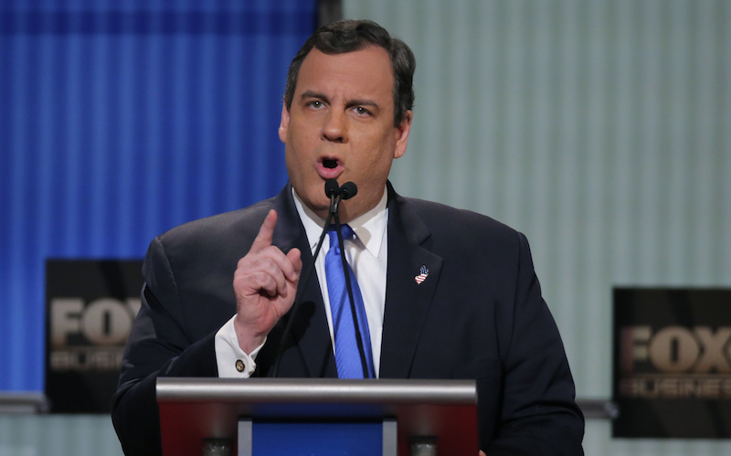 Republican U.S. presidential candidate Governor Chris Christie speaks during the Fox Business Network Republican presidential candidates debate in North Charleston, South Carolina January 14, 2016. REUTERS/Chris Keane -