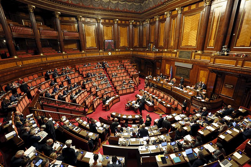 A general view shows the Italian Senate in Rome, January 28, 2016. Senate will begin debate on a bill that would legalise civil partnership for homosexuals as well as unmarried heterosexual couples. Photo courtesy of REUTERS/Remo Casilli *Editors: This photo may only be republished with RNS-ITALY-GAY, originally transmitted on Feb. 2, 2016.