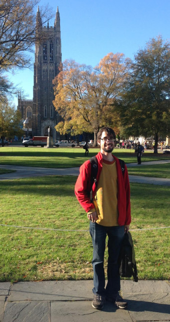 Travis Knoll is a doctoral student in history at Duke University in Durham, N.C. Photo courtesy of Travis Knoll