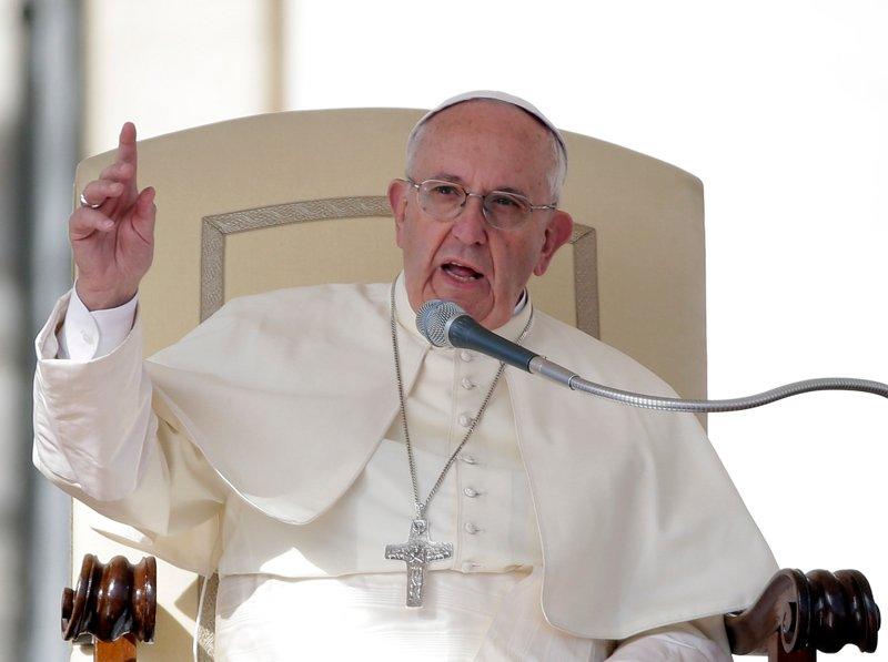 Pope Francis gestures as he speaks during his weekly general audience in Saint Peter's Square at the Vatican, on February 24, 2016. Photo courtesy of REUTERS/Max Rossi *Editors: This photo may only be republished with RNS-POPE-ISAIAH, originally transmitted on Feb. 24, 2016.