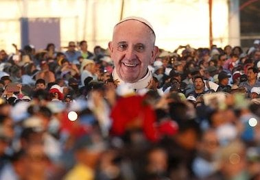 People attend the Mass celebrated by Pope Francis in Ciudad Juarez, Mexico February 17, 2016. REUTERS/Edgard Garrido