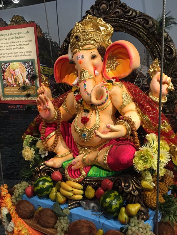 A statue of the Hindu deity Ganesh. Photo by Susan Goldstein/Religion & Ethics NewsWeekly