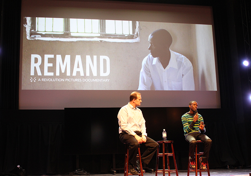 "After a screening of ""Remand,"" Henry recalled the harrowing conditions under which he served as a leader of fellow prisoners and marveled at a juvenile prison he visited during his recent visit to California. Religon News Service photo by Adelle M. Banks"