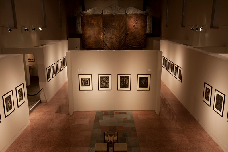 Georges Rouault: Miserere et Guerre, installation at Museum of Contemporary Religious Art (MOCRA) at Saint Louis University, 2016. Photo by Jeffrey Vaughn, courtesy of MOCRA