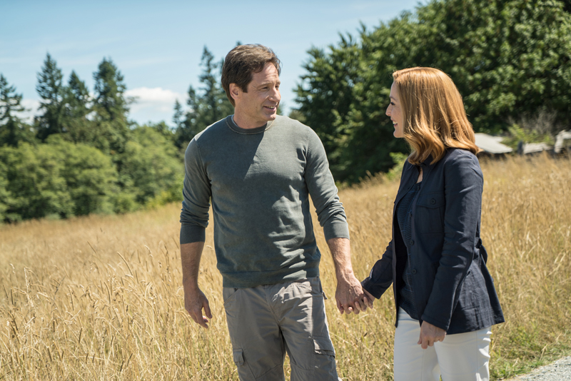 """David Duchovny and Gillian Anderson in the """"Babylon"""" episode of The X-Files which aired on Monday, Feb. 15, 2016 on FOX. Photo courtesy of Ed Araquel/FOX"""