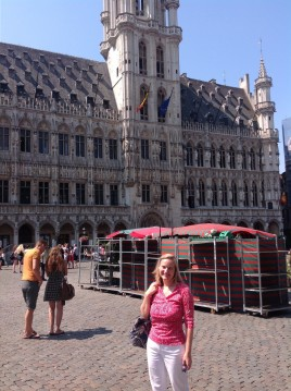 In the Grand Place in Brussels, summer 2014