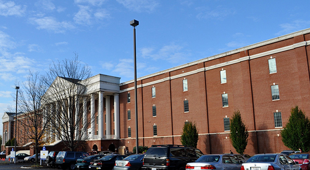 Liberty University's largest building is Arthur DeMoss hall. DeMoss's son, Mark, has criticizing the school's president for endorsing Donald Trump. - Image courtesy of AJU photography / Flickr (http://bit.ly/24DFQwY)