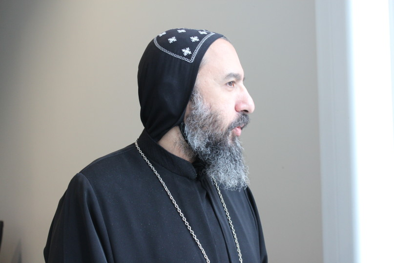 Bishop Angaelos, general bishop of the Coptic Orthodox Church in the United Kingdom, during his visit to Washington, D.C., on March 10, 2016. RNS photo by Adelle M. Banks