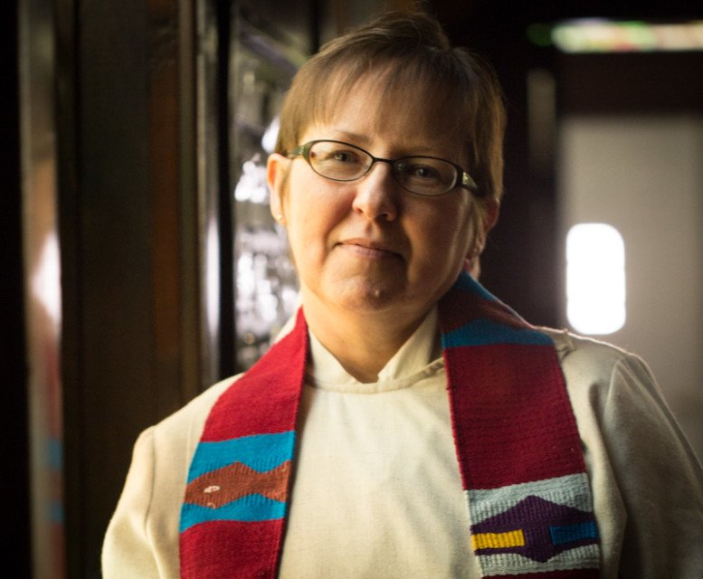 """United Methodist Church minister Cynthia Meyer says she was """"called by God to be open and honest"""" about who she is. So, during her first sermon of the new year, Meyer told the small congregation in Edgerton, Kan., about her relationship with a woman. Religion News Service photo by Sally Morrow"""