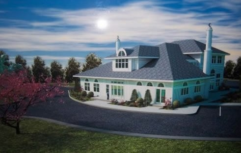 An artist's rendering of the proposed mosque. Photo courtesy of Patterson Belknap Webb & Tyler LLP
