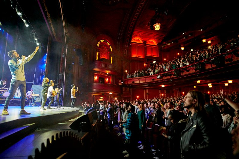 Hillsong Church London Holds Four Services Attended By 8000 People Every Sunday At The Dominion Theatre Photo Courtesy Of