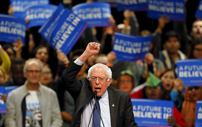 Democratic U.S. presidential candidate Bernie Sanders holds a campaign rally in San Diego, California on March 22, 2016. Photo courtesy of REUTERS/Mike Blake *Editors: This photo may only be republished with RNS-FEA-COLUMN, originally transmitted on March 23, 2016.