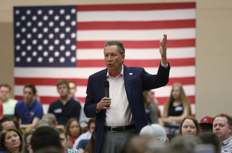 Republican U.S. presidential candidate John Kasich addresses a campaign town hall event in Orem, Utah on March 18, 2016. Photo courtesy of REUTERS/Jim Urquhart  *Editors: This photo may only be republished with RNS-FEA-COLUMN, originally transmitted on March 31, 2016.