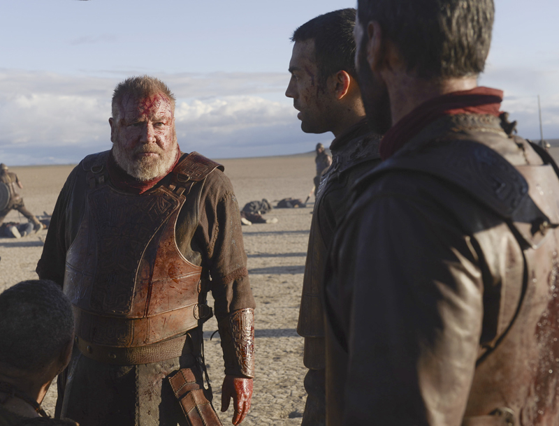 """An epic biblical saga of faith, ambition and betrayal as told through the eyes of the battle-weary King Saul, far left, the resentful prophet Samuel and the resourceful young shepherd David - all on a collision course with destiny that will change the world. """"Of Kings and Prophets"""" will make its season premiere on March 8, 2016. Photo courtesy of ABC/Trevor Adeline"""