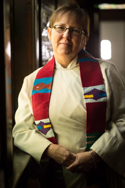 "United Methodist Church minister Cynthia Meyer says she was ""called by God to be open and honest"" about who she is. So, during her first sermon of the new year, Meyer told the small congregation in Edgerton, Kan., about her relationship with a woman. Religion News Service photo by Sally Morrow"