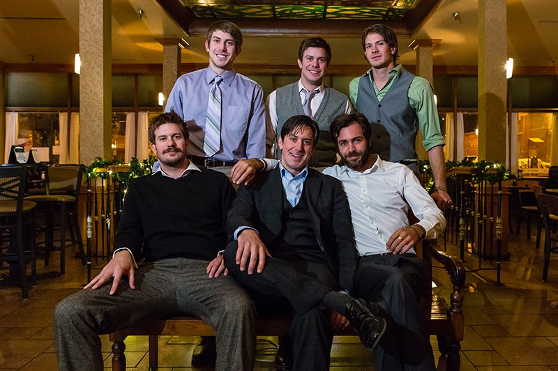 The Sanley brothers pose for a photograph during a party in December, 2014. Back Row: J. Austin, Jordan, Jared; front row: Jesse, Joel, Jon Stanley. Photo courtesy of Stanley Brothers