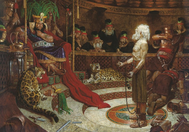 Abinadi before King Noah (Abinadi Appearing before King Noah), by Arnold Friberg. Photo courtesy of the Church of Jesus Christ of Latter-day Saints