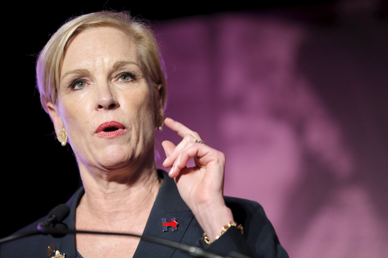 Planned Parenthood Action Fund President Cecile Richards speaks at an event to publicly endorse U.S. Democratic presidential candidate Hillary Clinton in Hooksett, New Hampshire, on January 10, 2016. Photo courtesy of REUTERS/Brian Snyder *Editors: This photo may only be republished with RNS-GEORGETOWN-RICHARDS, originally transmitted on March 7, 2016.