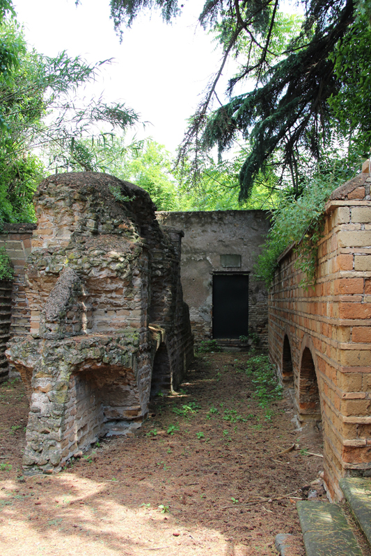 Exterior view of the Jewish Catacombs that date back to 2nd century AD near the Appian Way in Rome. Religion News Service photo by Josephine McKenna