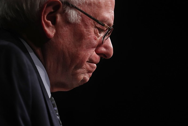 Democratic U.S. presidential candidate Senator Bernie Sanders pauses as he speaks to supporters on the night of the Michigan, Mississippi and other primaries at his campaign rally in Miami, Florida on March 8, 2016. Photo courtesy of REUTERS/Carlo Allegri *Editors: This photo may only be republished with RNS-SILK-COLUMN, originally transmitted on March 9, 2016.