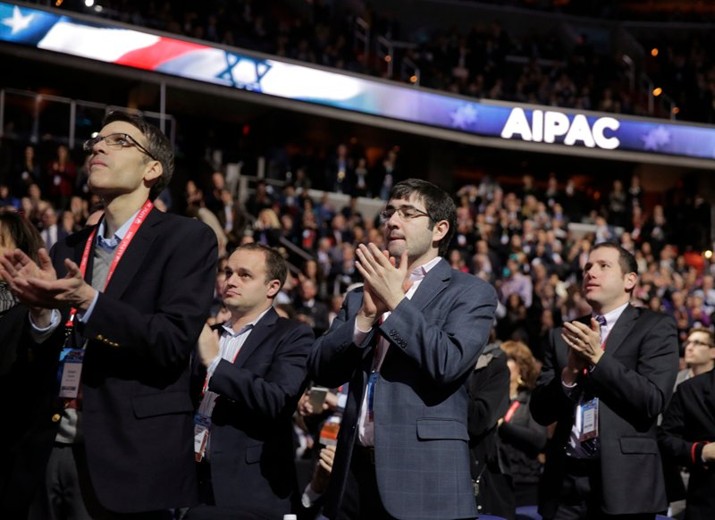 Attendees applaud Democratic U.S. presidential candidate Hillary Clinton during her address to the American-Israeli Public Affairs Committee (AIPAC) Conference at the Verizon Center in Washington on March 21, 2016. Photo courtesy of REUTERS/Joshua Roberts *Editors: This photo may only be republished with RNS-TRUMP-JEWS, originally transmitted on March 21, 2016.
