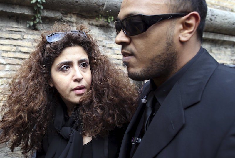 Italian laywoman Francesca Chaouqui arrives at the Vatican for her trial March 14, 2016. Chaouqui is one of five people on trial for leaking confidential documents, which led to the publication last year of two books. Photo courtesy REUTERS/Alessandro Bianchi