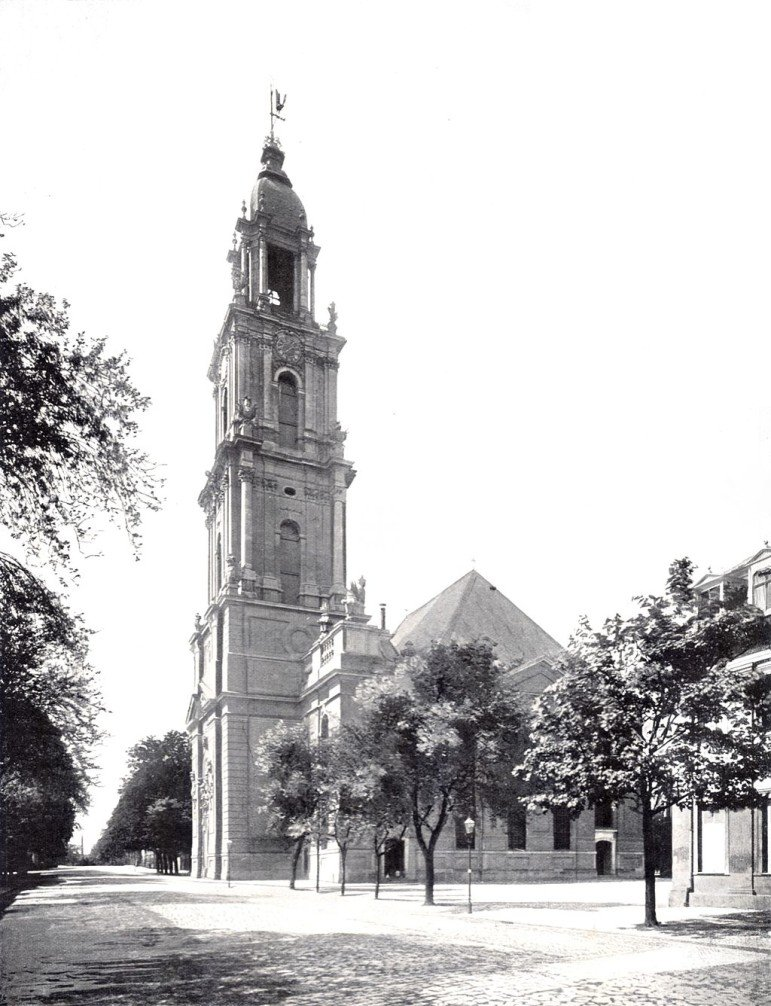 Garrison Church in Potsdam, Germany around 1900.