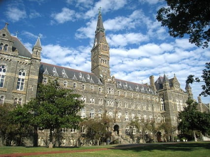 Georgetown University's Healy Hall in Washington, D.C.