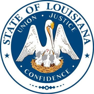 State seal of Louisiana. The Democratic governor broke with the Republican South to sign an order protecting LGBT rights.
