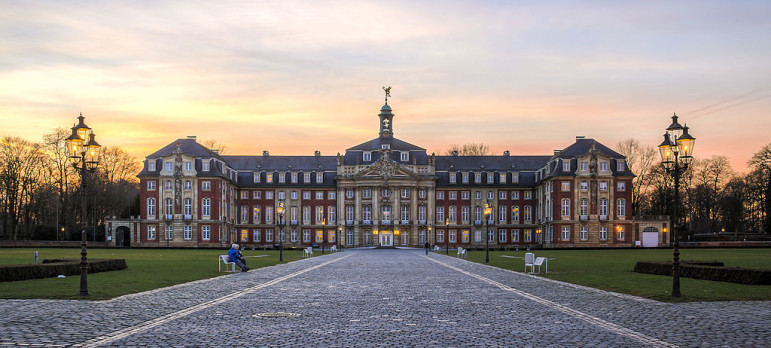 The administration building at the University of Muenster in Germany.