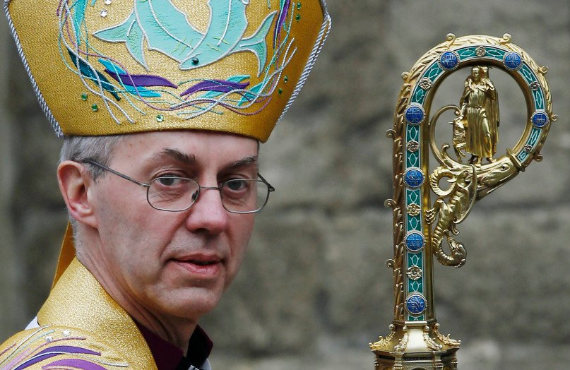The Archbishop of Canterbury Justin Welby, after his enthronement ceremony at Canterbury Cathedral, in Canterbury, southern England March 21, 2013. REUTERS/Luke MacGregor