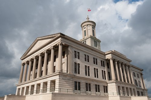 Tennessee State Capitol building in Nashville.