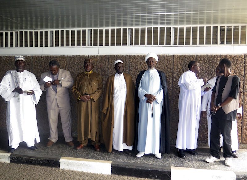 Christian and Muslim religious leaders wait to meet parliament members to oppose a law that would have legalized abortion in Freetown, Sierra Leone, January 27, 2016. REUTERS/Umaru Fofana