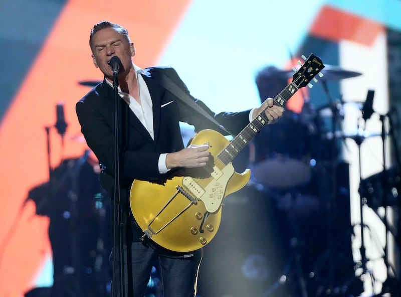 Singer Bryan Adams performs on stage at the 2016 Juno Awards in Calgary, Alberta, Canada, in this file photo taken April 3, 2016. Adams has canceled a show in Mississippi this week to protest a new state law that lets people with religious objections deny services to same-sex couples, the rocker said in a statement. REUTERS/Mike Ridewood/Files