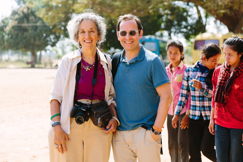 Ruth Messinger with Robert Bank, the executive vice president of AJWS, who will succeed Messinger, during a trip to Cambodia in 2016. Photo by Christine Han, courtesy of AJWS