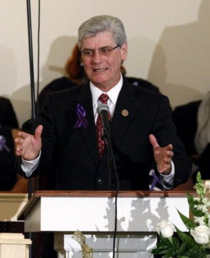 Mississippi Governor Phil Bryant's office says he will carefully review a religious freedom bill opposed by LGBT rights activists. REUTERS/Rogelio V. Solis