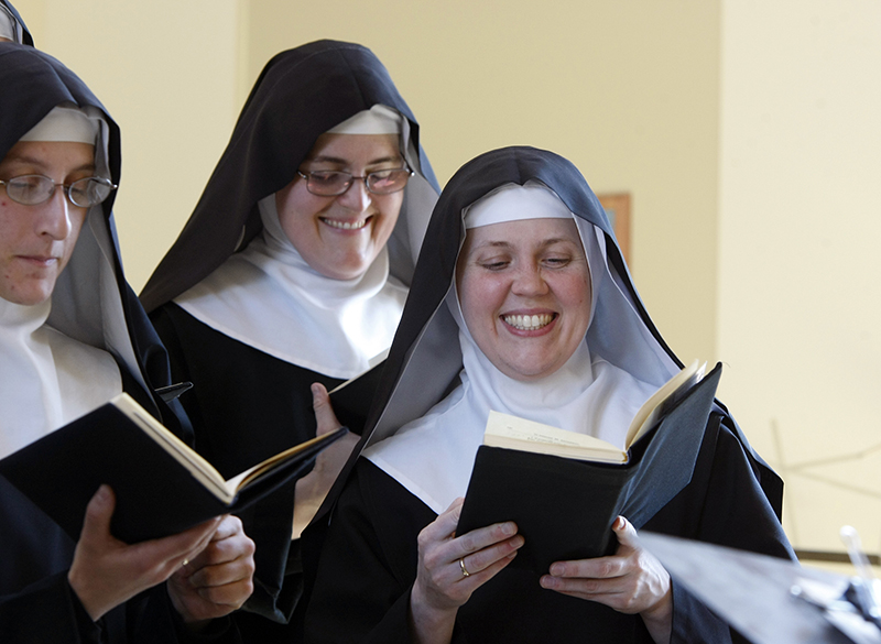 """The Benedictines of Mary, Queen of the Apostles are cloistered nuns who have had four albums top the charts. They released their latest album, """"Adoration at Ephesus,"""" on April 26, 2016. Religion News Service photo by Karen Pulfer Focht"""