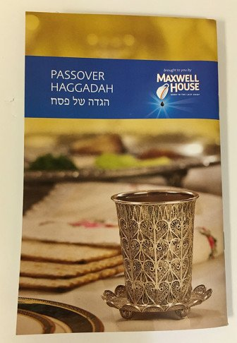 Passover Haggadah published by Maxwell House. Religion News Service photo by Aysha Khan
