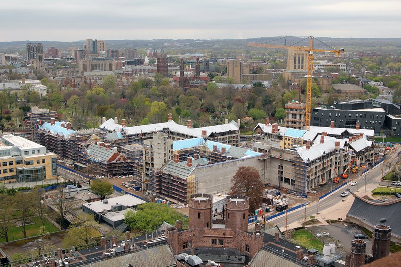 Construction site of the new residiential colleges at Yale. Photo courtesy of Yale