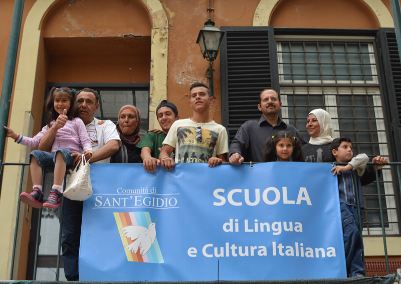 The Syrian families will be hosted by the Community of Sant'Egidio, which will also give them Italian lessons. Religion News Service photo by Rosie Scammell