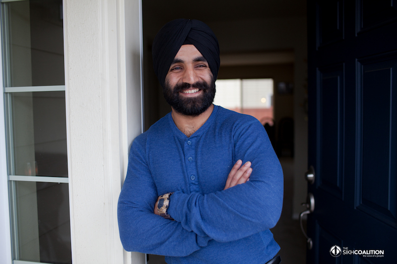 US Army Captain Simratpal Singh is the first to be allowed to maintain his religiously mandated beard and turban on active duty. Photo courtesy of The Sikh Coalition