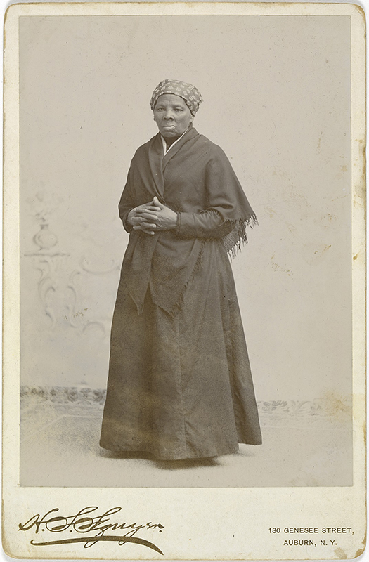 Tubman, Harriet Arminta (1820 - 10 Mar 1913) Artist: Squyer, H Seymour (1848 - 18 Dec 1905) c. 1885 Printing-out paper photo Photo courtesy of National Portrait Gallery, Smithsonian Institution