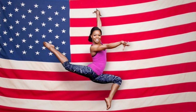 Four years after she became a gold medalist, gymnast Gabby Douglas is aiming for a second Olympic appearance, this time in Rio de Janeiro. Photo by Robert Maxwell/Oxygen, courtesy of NBC
