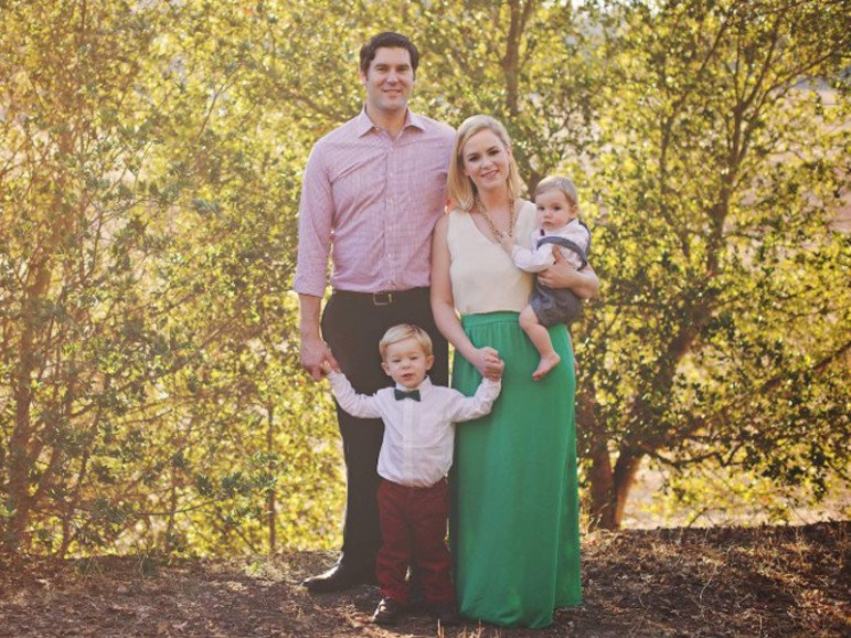 Elizabeth Tenety Galle, her husband, Colin Galle, and sons Henry and Grant. Photo courtesy of Lindsay Olsen Photography