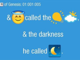 "Billed as ""Scripture for Millennials,"" all 66 books of the King James Bible, translated into emoji, went on sale Sunday (May 29) at the iTunes store as Bible Emoji."