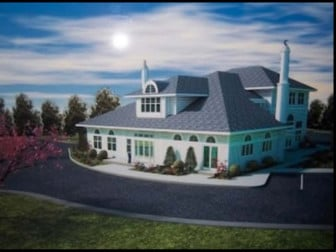 Proposed mosque for the Islamic Society of Basking Ridge, New Jersey. Photo courtesy of Becket Fund