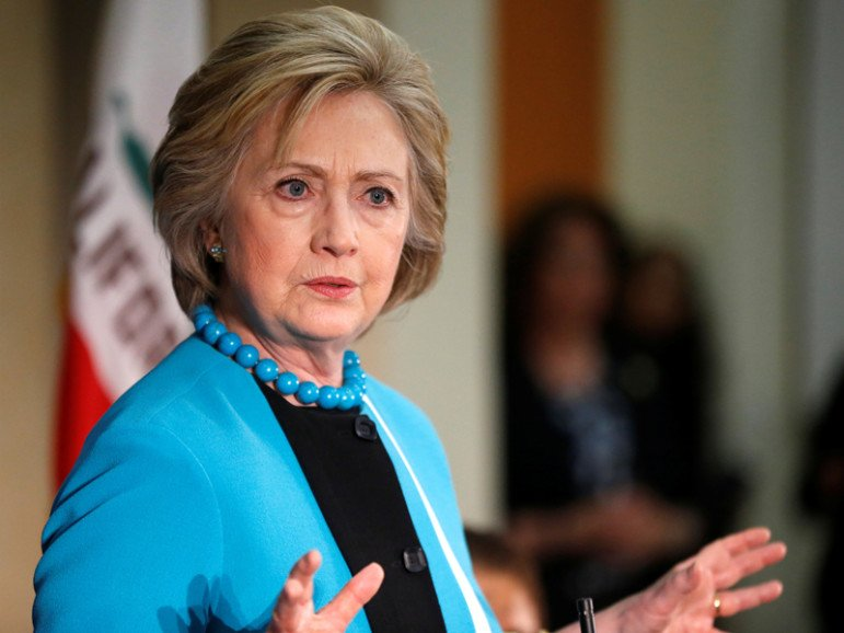 U.S. Democratic presidential candidate Hillary Clinton speaks during a visit to the California African American Museum in Los Angeles on May 5, 2016. Photo courtesy of REUTERS/Lucy Nicholson *Editors: This photo may only be republished with RNS-CLINTON-BDS, originally transmitted on May 9, 2016.